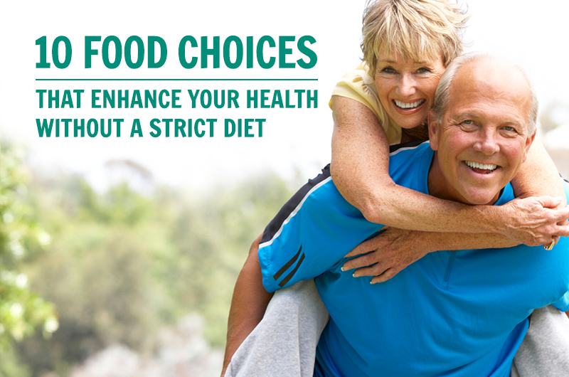 better food choices replace strict diet