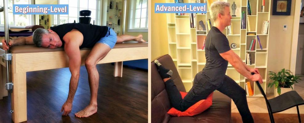 hip flexor stretch variations