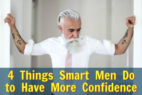 smart men develop confidence