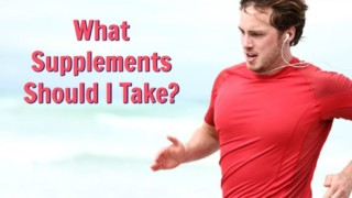 male athlete who takes supplements