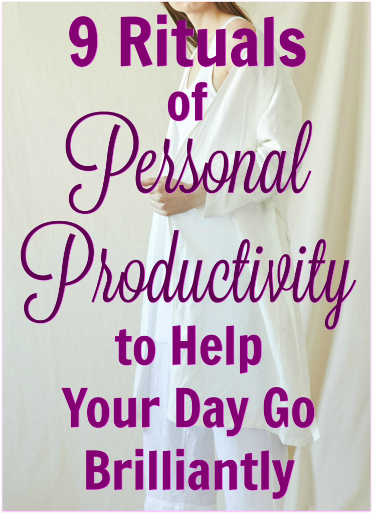 personal productivity rituals