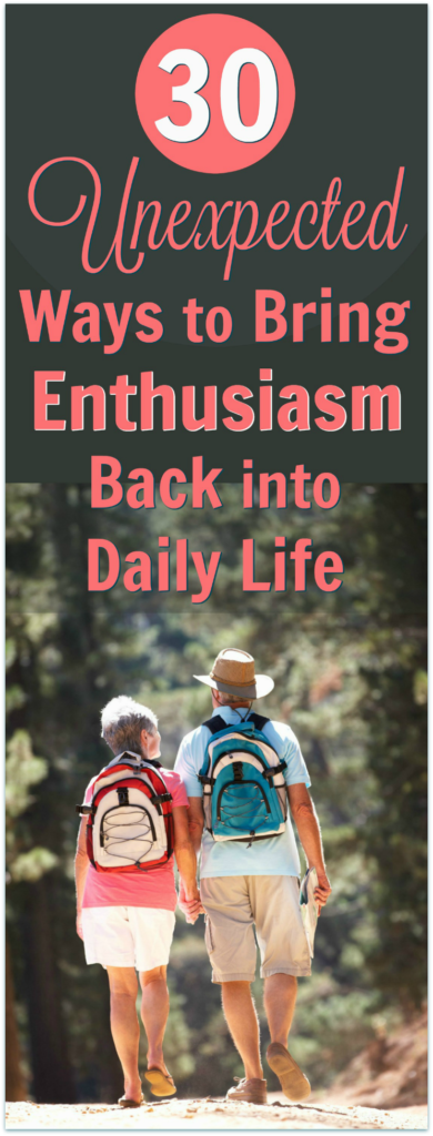 enthusiasm joy daily life
