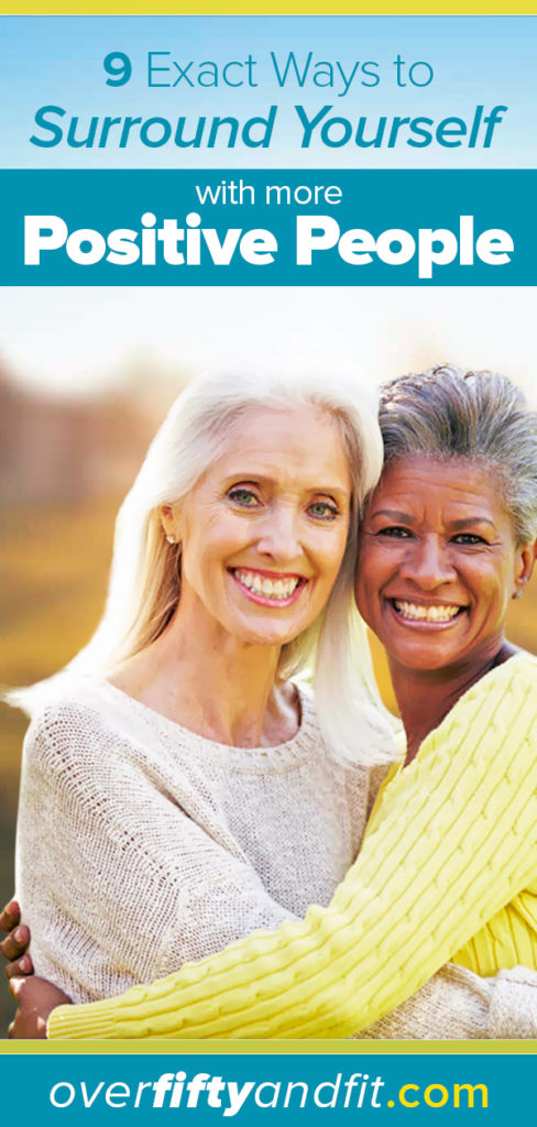 Two mature women hugging in friendship.