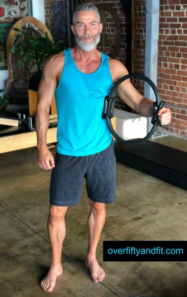 Dane Findley age 52 pilates magic circle calisthenics