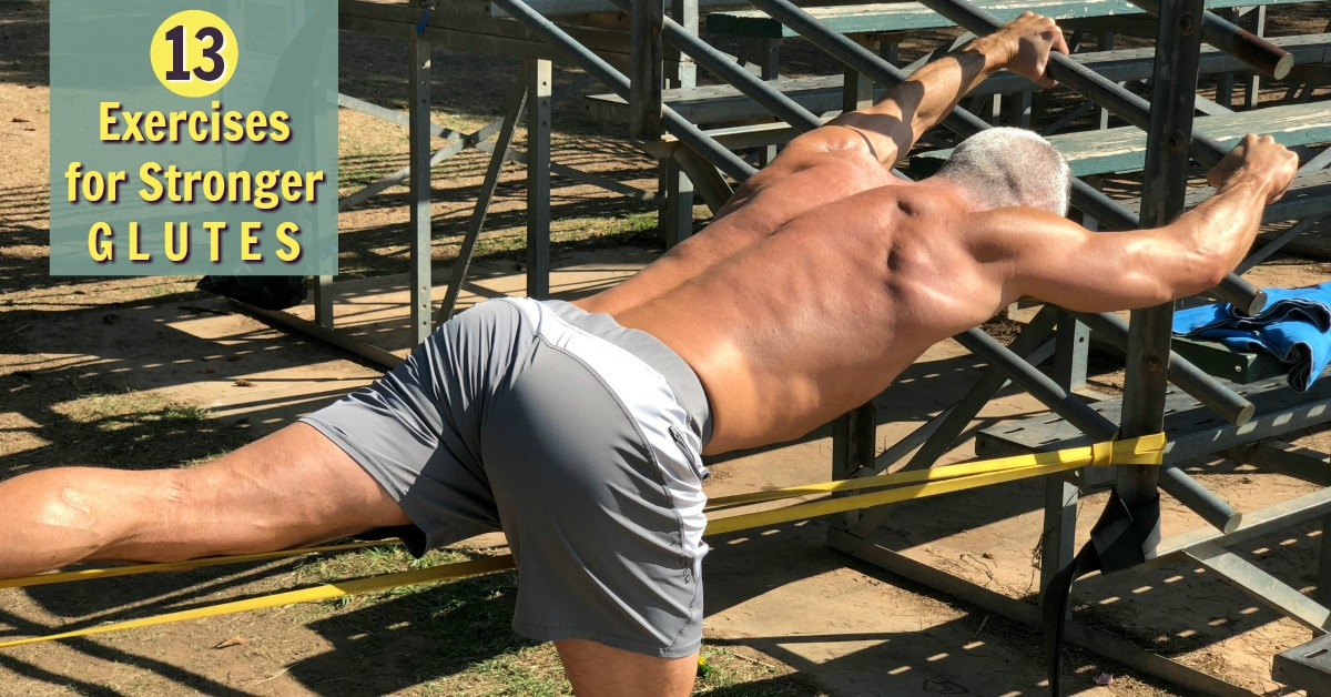mature male athlete exercising outdoors