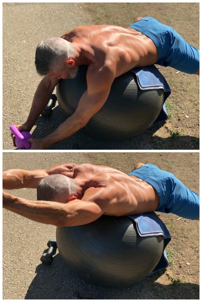 swiss ball shoulder openers