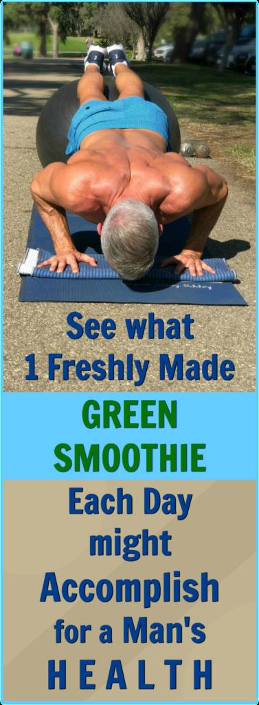 green smoothie man health