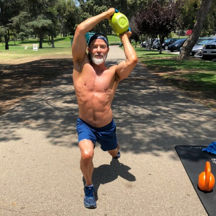deep lunge halos fitness over age 50
