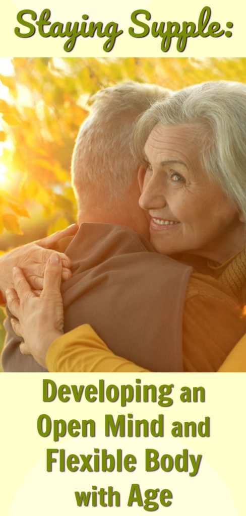 Attractive older couple hugging