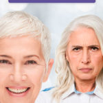 happy mature woman and unhappy mature woman