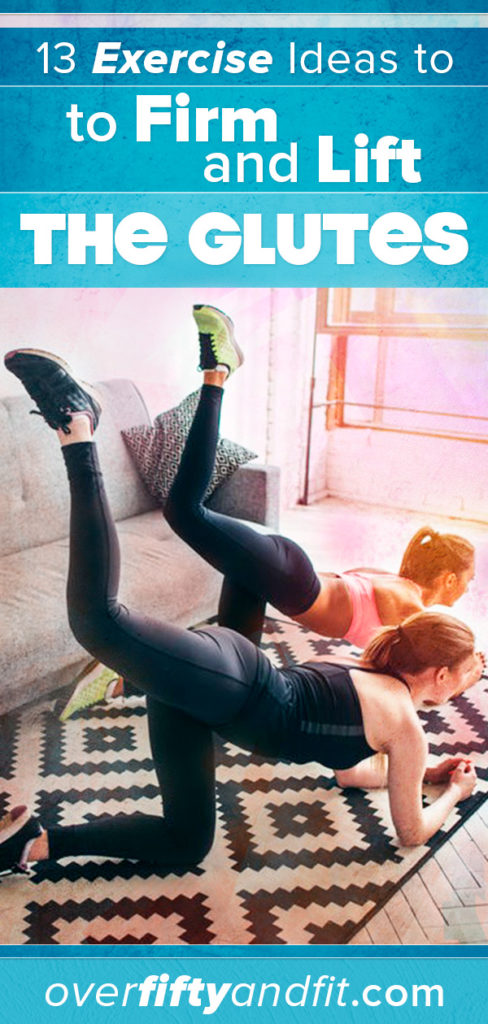 Two women doing glute exercises in their living room.