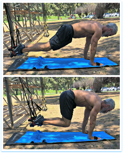 knee pulls exercise suspension workout