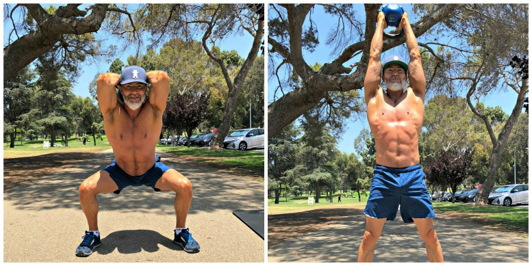 overhead squat tricep extension