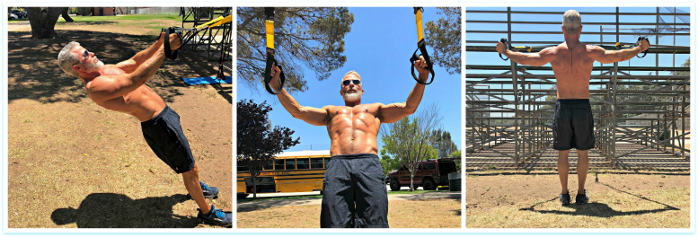 reverse suspension fly exercise trx