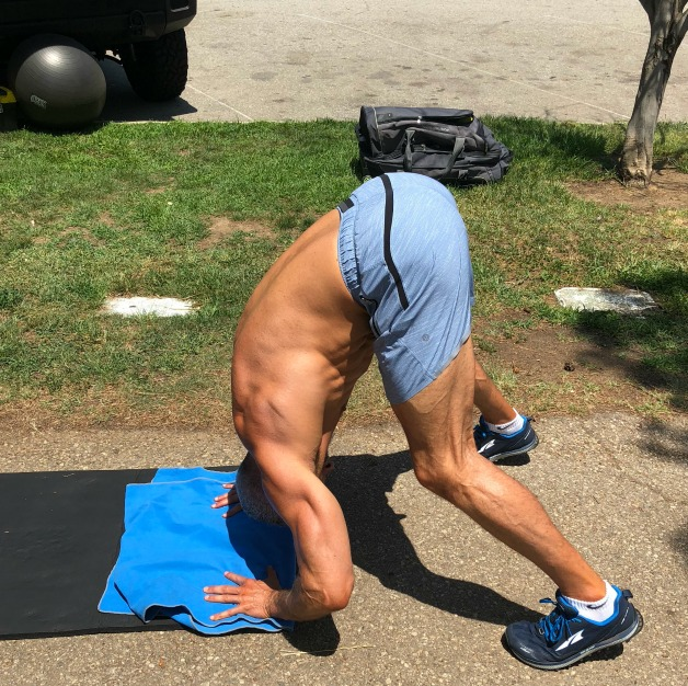 Bent Over Handstand Push Up for Shoulders