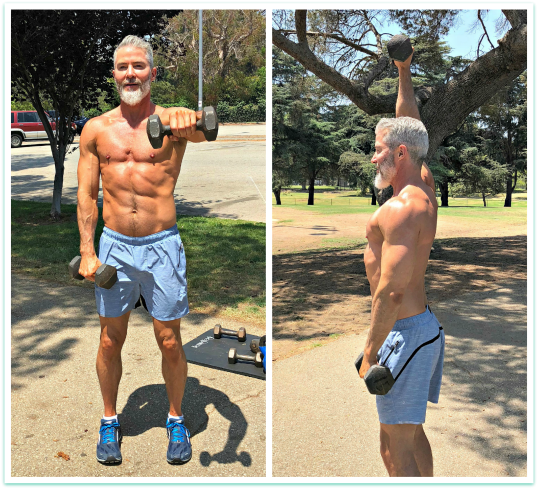 alternating front arm dumbbell raises shoulder
