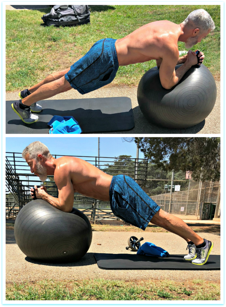 ball plank core muscles