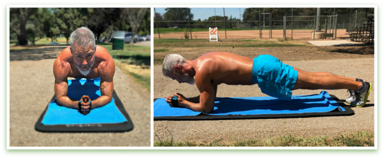 elbow plank chest warm up