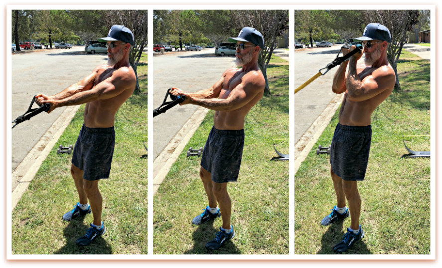 resistance band curls better arms