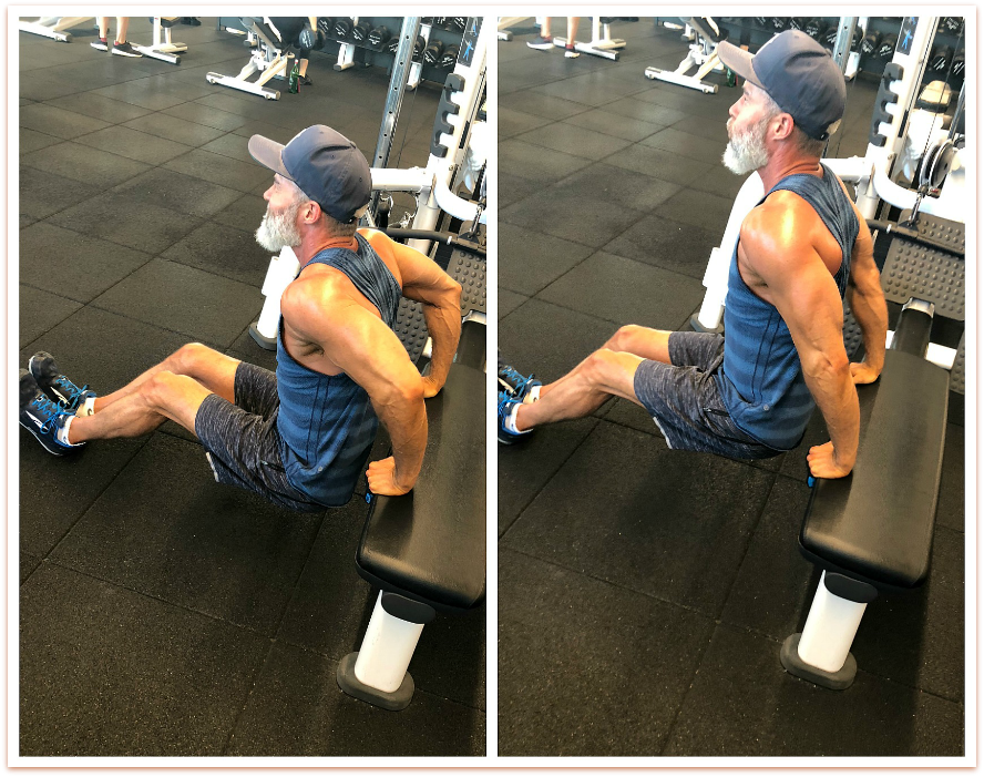 tricep dips fitness over 50