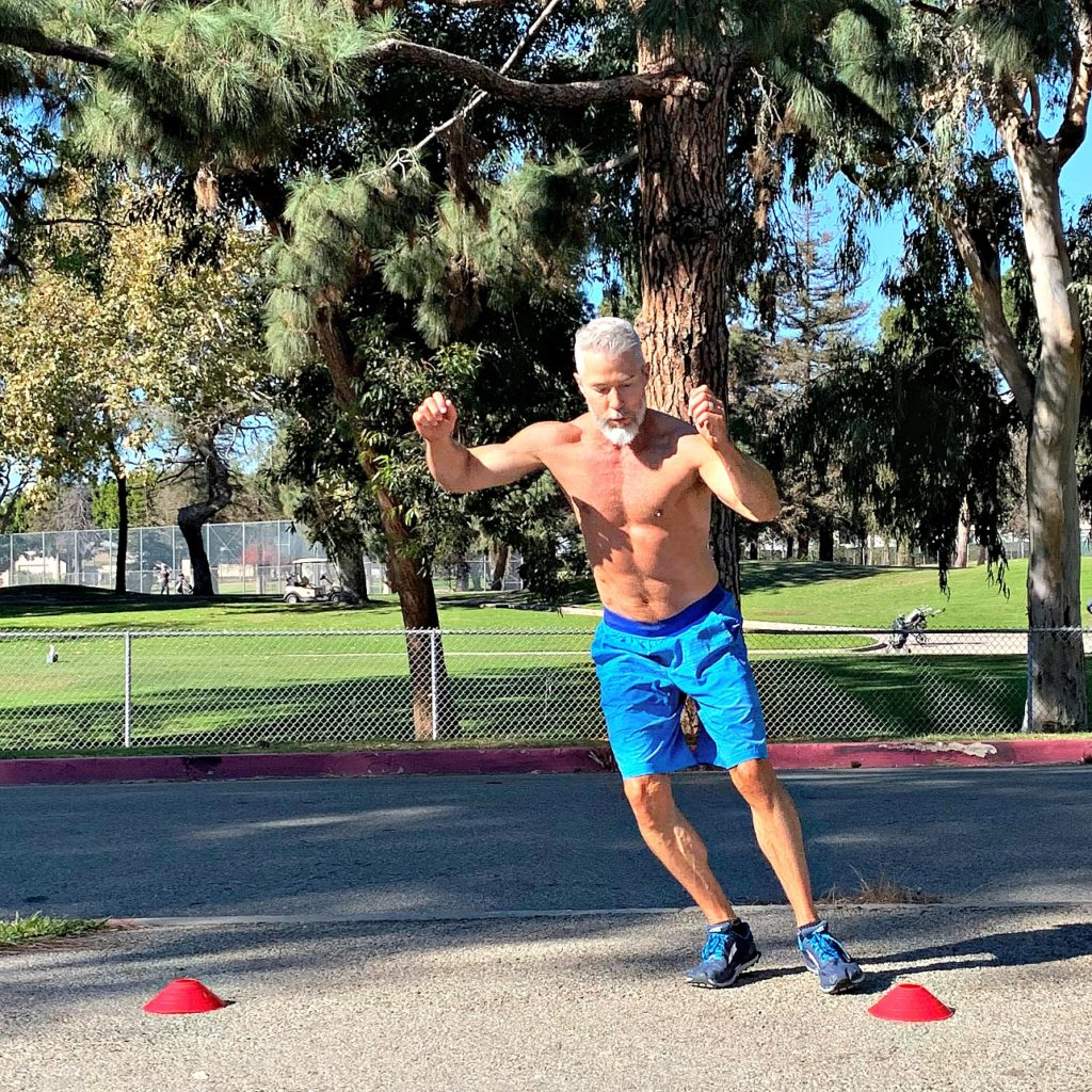 side to side leg jumps sprints drills