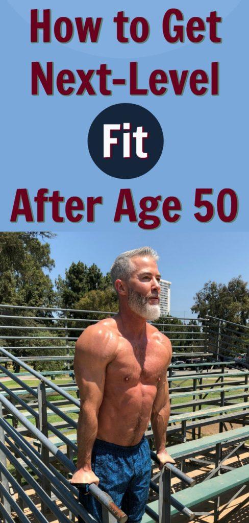 mature man exercising at park bleachers