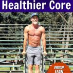 fit, mature athlete doing abdominals exercises outdoors in the park