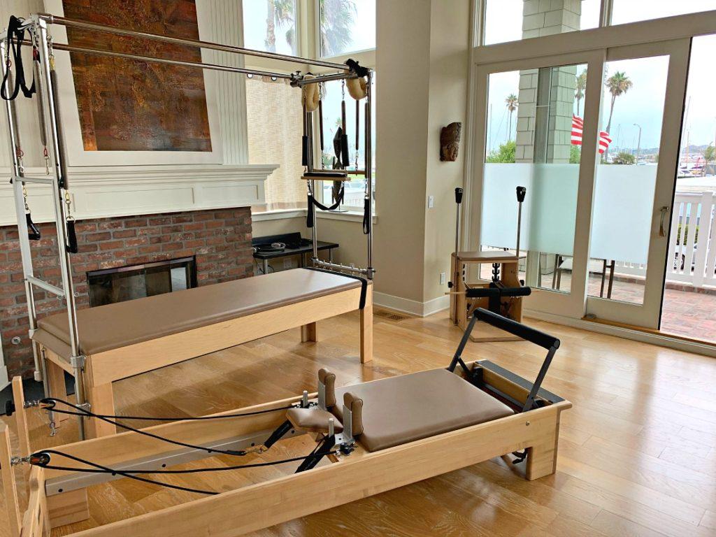 Pilates home gym, including reformer.