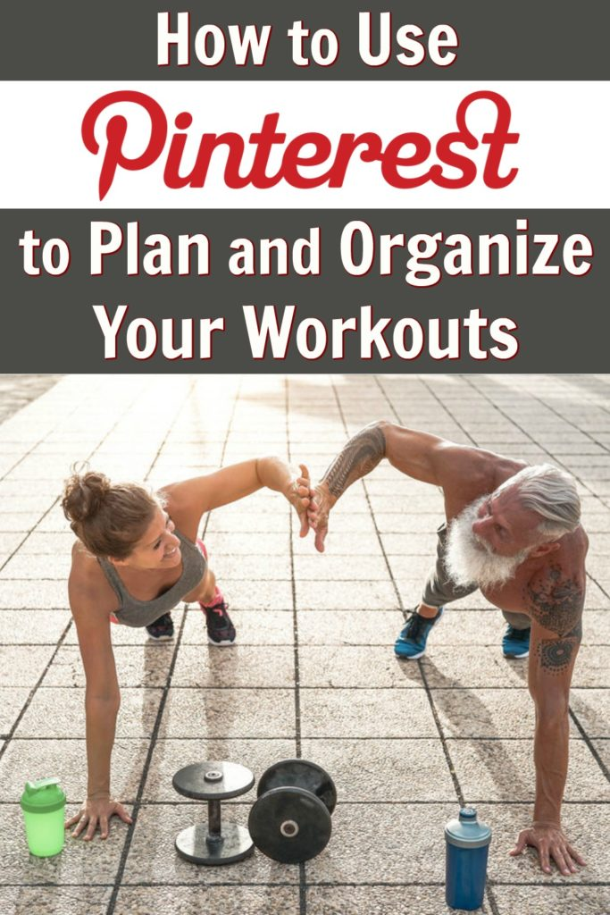 Mature couple doing workouts planned on Pinterest for physique improvement.