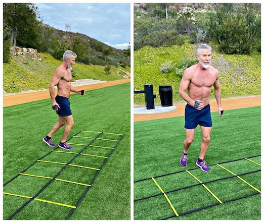 Speed ladder drills for developing leg muscles and sports performance.