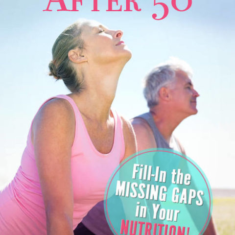 Mature healthy couple doing outdoor yoga after taking their health supplements.