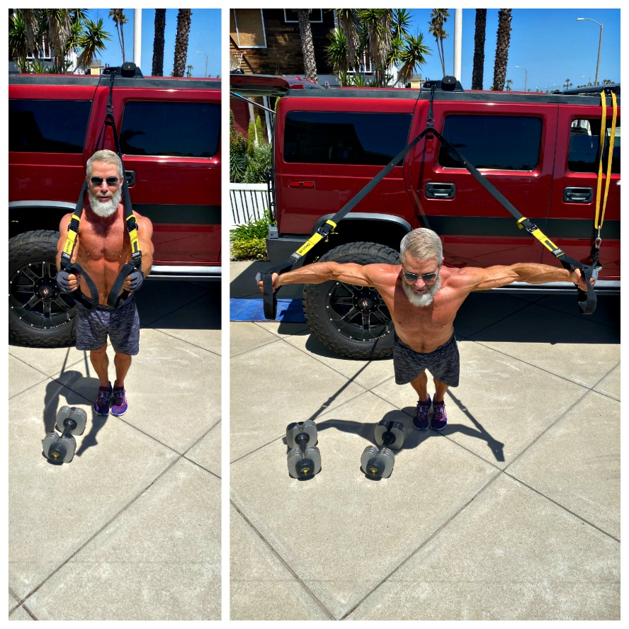 TRX chest fly exercise