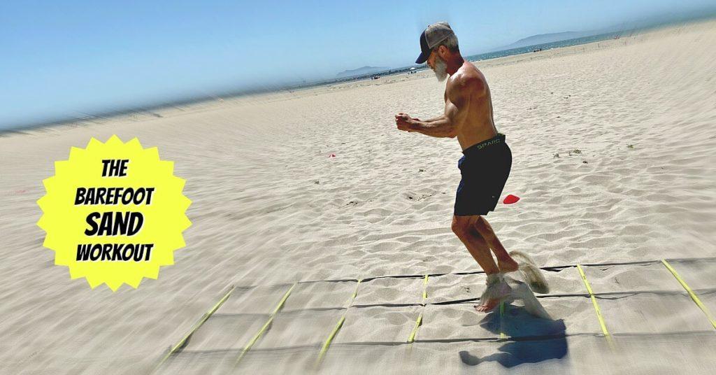 beach barefoot sand workout