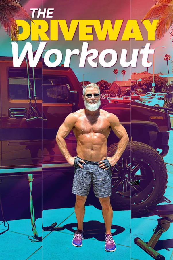 Dane Findley, age 54, shows us the Driveway Training fitness workout.