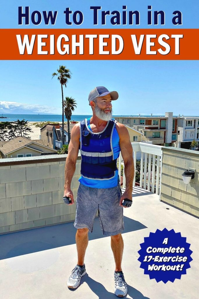 Dane Findley, age 54, completes a 17-exercise circuit training workout wearing a weighted fitness vest.