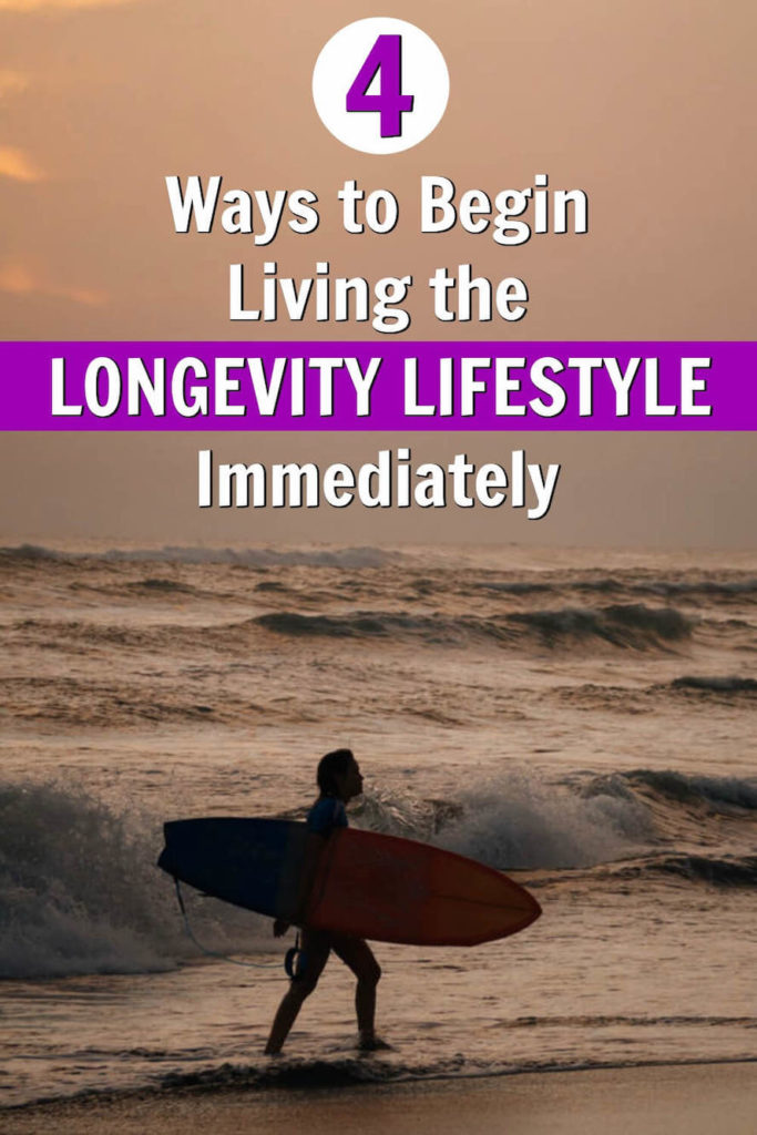 Mature surfer demonstrates how to live the longevity lifestyle for supreme wellness.