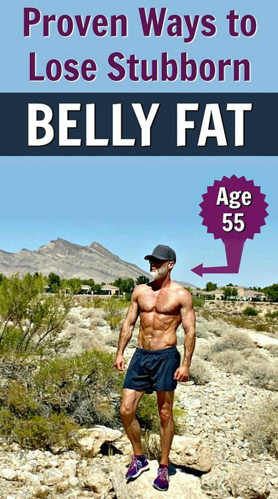 Mature man with shredded abs has lost belly fat smartly