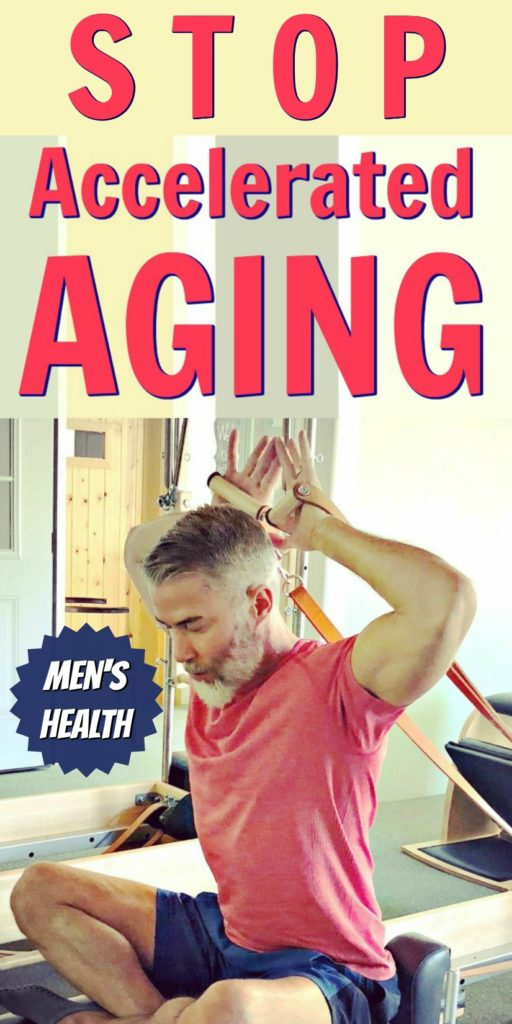 Mature athlete uses exercise to reduce aging risk.