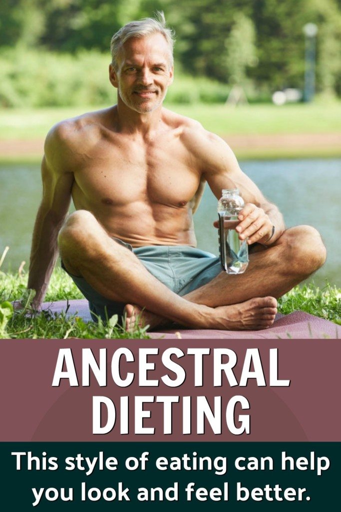 protėvių dietos besilaikantis žmogus atsipalaiduoja parke