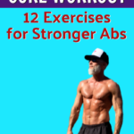 mature athlete with strong abdominal muscles