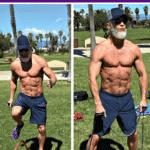 fit older man exercising in fitness park