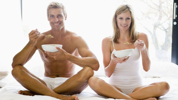 mature fit couple following health protocols