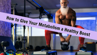 older man with healthy metabolism exercising