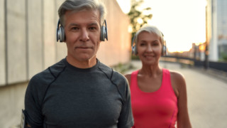 mature couple improving their health after 50