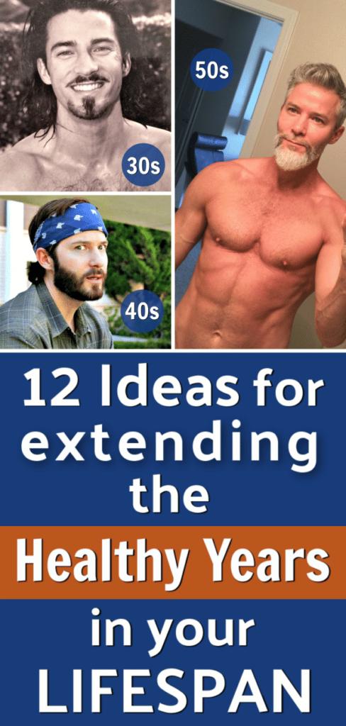 man experiencing healthy aging in 3 decades