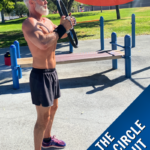 Dane Findley, age 55, uses a magic circle to workout