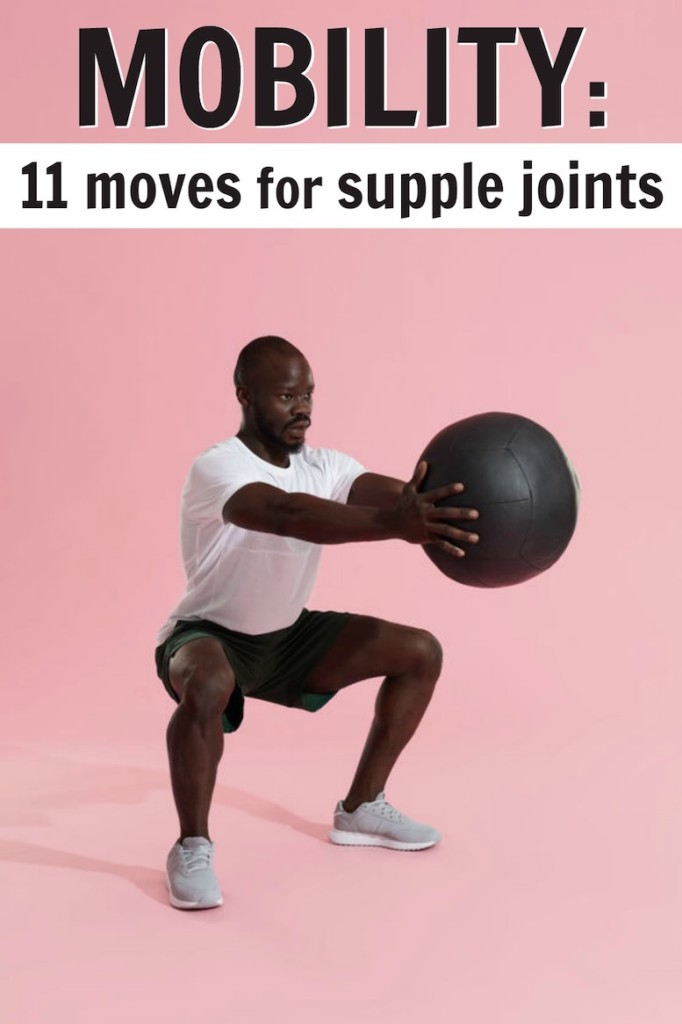Strong mature athlete improving mobility