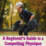 woman training physique outdoors