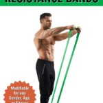 man training his upper body with resistance band