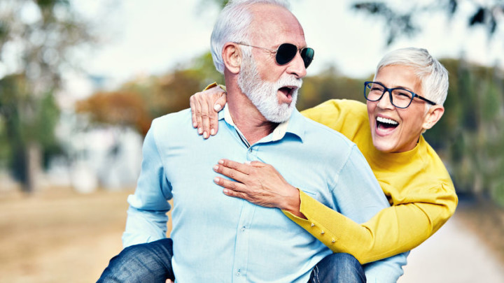 mature couple reversing autoimmune symptoms happily